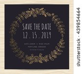 save the date  wedding... | Shutterstock .eps vector #439854664