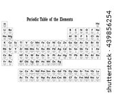 periodic table of the elements... | Shutterstock . vector #439856254