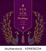 wedding invitation or card with ... | Shutterstock .eps vector #439858234