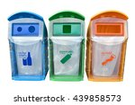 classify bins for recycle thai... | Shutterstock . vector #439858573