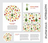 vector set of business card.... | Shutterstock .eps vector #439866094