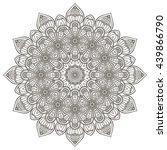 flower mandalas. vintage... | Shutterstock . vector #439866790