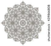 flower mandalas. vintage...   Shutterstock . vector #439866808