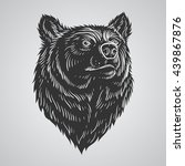 bear head hand draw | Shutterstock .eps vector #439867876