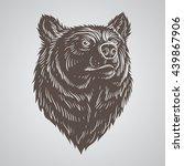 bear head hand draw | Shutterstock .eps vector #439867906
