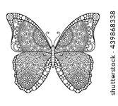flower mandalas. vintage... | Shutterstock . vector #439868338