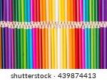 color pencils rainbow...   Shutterstock . vector #439874413