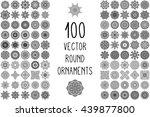 flower mandalas. vintage... | Shutterstock . vector #439877800
