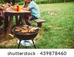 friends enjoying barbecue time... | Shutterstock . vector #439878460