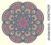 flower mandalas. vintage... | Shutterstock . vector #439879639
