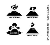 volcano vector set. logotypes...