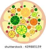 background of citrus fruits.... | Shutterstock .eps vector #439885159