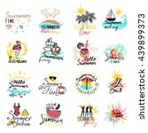 watercolor banners  stickers... | Shutterstock .eps vector #439899373
