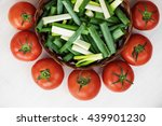 tomatoes and chopped green... | Shutterstock . vector #439901230