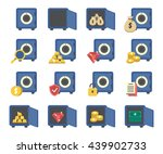 a set of money  bank safes... | Shutterstock .eps vector #439902733