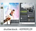 brochure design template vector.... | Shutterstock .eps vector #439909129