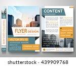 flyers design template vector.... | Shutterstock .eps vector #439909768