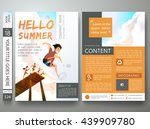 brochure design template vector.... | Shutterstock .eps vector #439909780