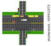 road infographics. large... | Shutterstock . vector #439912573