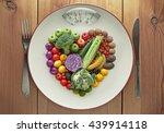 Diet Concept Heart Shape Fruit...
