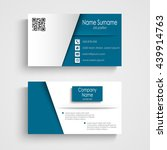 business card with blue white... | Shutterstock .eps vector #439914763
