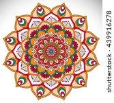 flower mandalas. vintage... | Shutterstock . vector #439916278