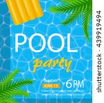 pool or summer party invitation ... | Shutterstock .eps vector #439919494