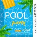Pool Or Summer Party Invitatio...