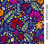 floral seamless pattern. herbal ... | Shutterstock .eps vector #439921180