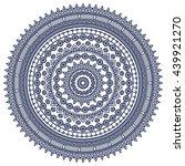 flower mandalas. vintage... | Shutterstock . vector #439921270