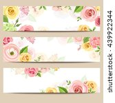 Set Of Three Vector Web Banner...