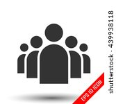 community icon. group of five... | Shutterstock .eps vector #439938118