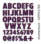 texture alphabets in 3d... | Shutterstock . vector #439941784