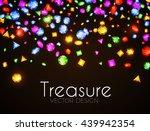 falling multicolor gems....   Shutterstock .eps vector #439942354