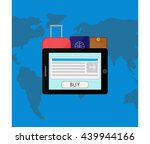 tablet  suitcase  passport and...