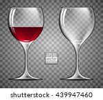 two glasses of wine | Shutterstock .eps vector #439947460