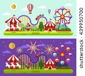 flat design vector day and... | Shutterstock .eps vector #439950700