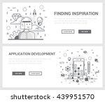 vector concept  a set of... | Shutterstock .eps vector #439951570