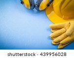 ear muffs leather safety gloves ... | Shutterstock . vector #439956028