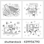 set of vector illustrations in... | Shutterstock .eps vector #439956790