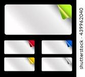 set light rectangular stickers   Shutterstock .eps vector #439962040