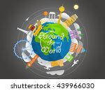 world famous signts abstract... | Shutterstock .eps vector #439966030