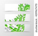 set of banner wave design.... | Shutterstock .eps vector #439967470