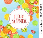 hello summer background... | Shutterstock . vector #439968124