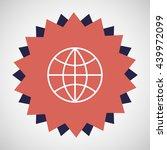 earth globe icon | Shutterstock .eps vector #439972099