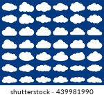 cloud shape. vector set of... | Shutterstock .eps vector #439981990