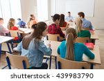 education  learning and people... | Shutterstock . vector #439983790