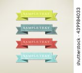 vintage elements set | Shutterstock .eps vector #439984033