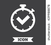 timer sign icon. check... | Shutterstock .eps vector #439988878