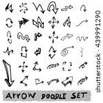 vector hand drawn arrows set... | Shutterstock .eps vector #439991290